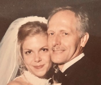 Lisa and her dad - wedding day